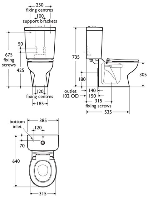 size of toilet toilet sizes dimensions quotes