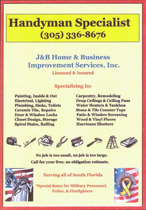 j b home business improvement services
