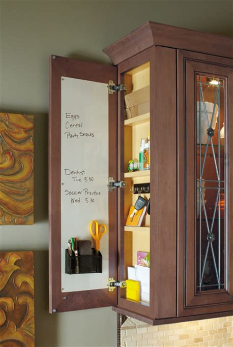 wall message center traditional kitchen by