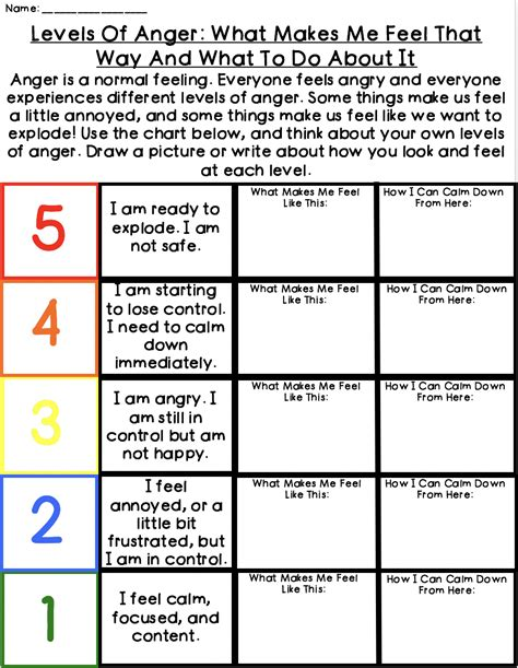 anger management worksheets counselorchelsey on tpt