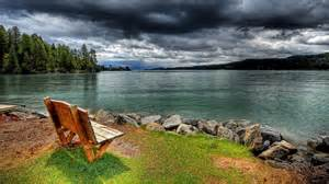 Bench French Lakeside View Computer Wallpapers Desktop Backgrounds
