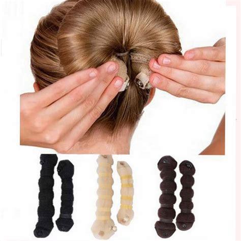 fashion magic hair styling bun 2pcs set fashion hair tools magic style buns