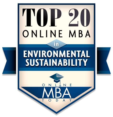 Sustainable Mba Programs Rankings by Top 20 Mba In Environmental Sustainability Programs