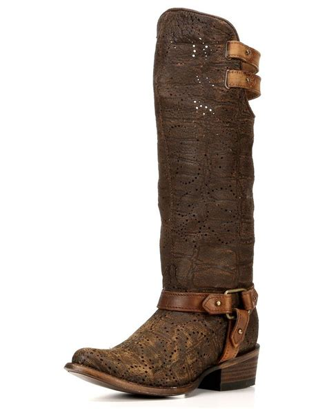 corral s deer slouch harness boots country