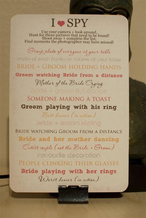 quot i spy quot cards weddingbee