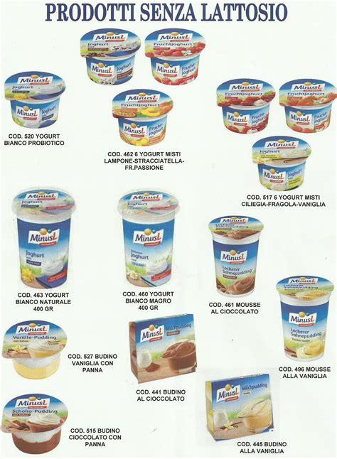 lista alimenti senza lattosio 187 senza lattosio prodotti