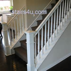 white stairs railing and banister basement ideas