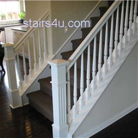 White Banister Rail by White Stairs Railing And Banister Basement Ideas