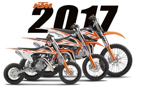 motocross bike models first 2017 models ktm 50sx 65sx 85sx dirt bike magazine