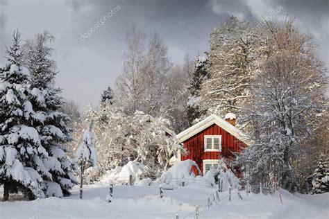 cottage in snowy landscape stock photo 169 lagereek