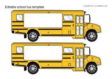 editable school bus template sb6097 sparklebox