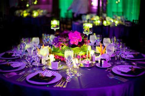 wedding table decorations purple and green the league league affairs