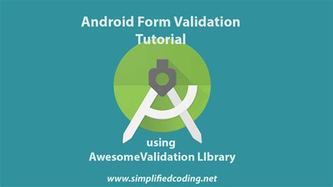 name validation pattern in android android form validation tutorial using awesomevalidation