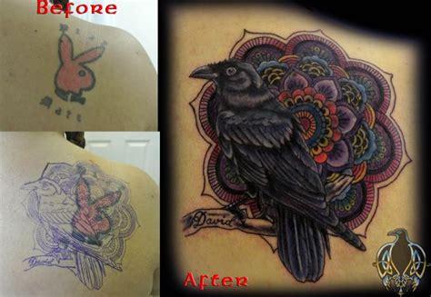 tattoo cover up colors cover up tattoo crow mandela bird color tattoo more