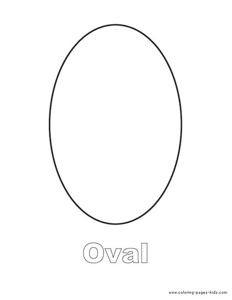 oval shape coloring page