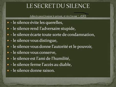 le secret du silence citations