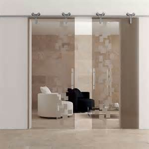 Sliding glass interior doors home office contemporary with