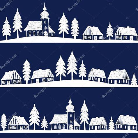 weihnachten basteln ideen 3083 with church seamless pattern