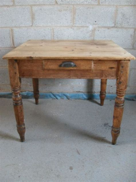 pitch pine plank top square kitchen dining table