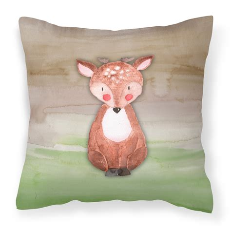 walmart decorative deer outdoor baby deer watercolor fabric decorative pillow bb7442pw1414 walmart