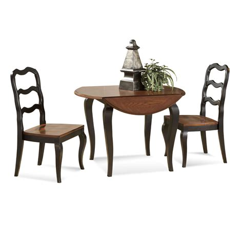 Small Dining Tables With Chairs Small Drop Leaf Dining Table With 2 Ladder Dining Chairs Painted With Brown