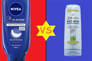 the shelves sound nivea in shower lotion vs