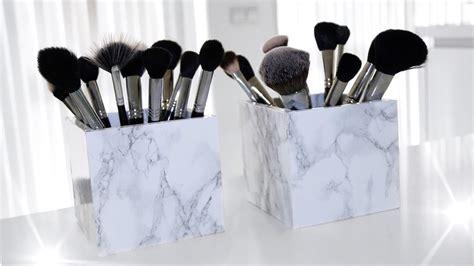 Makeup Brush Holder Set diy marble makeup brush holder easy sabrina anijs