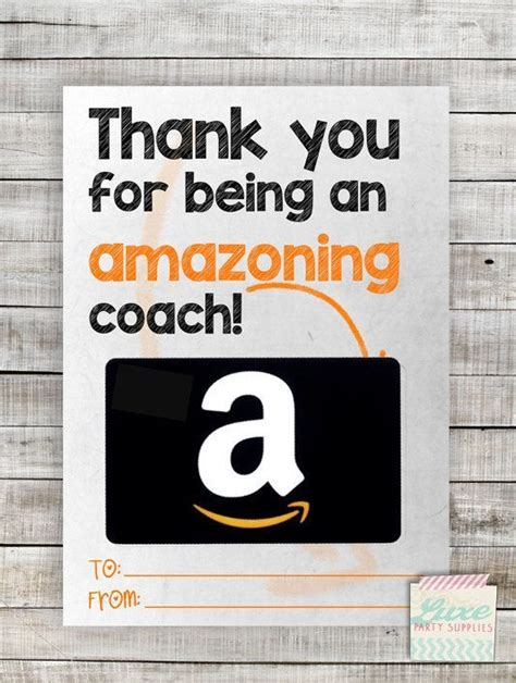 Gift Card Coach - instant download printable amazon coach gift card holder amazoning teacher