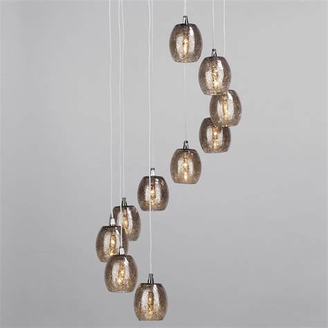 crackle glass pendant light 10 light circular ceiling pendant cluster with crackled