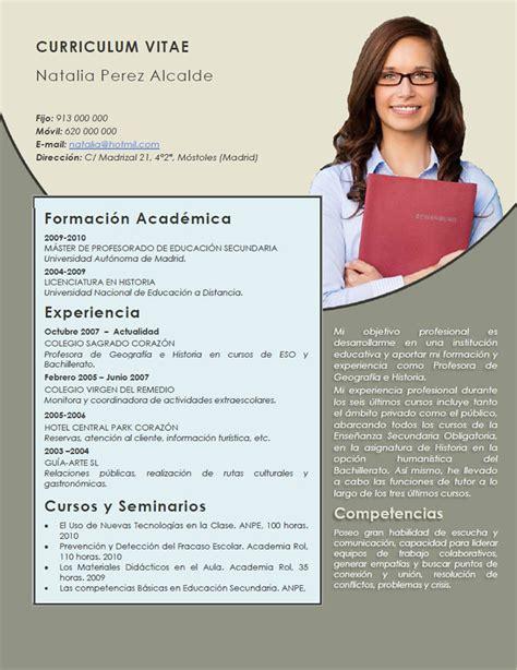 Modelo De Curriculum Vitae Peru Para Docentes modelo de curriculum vitae docente escuela modelo de
