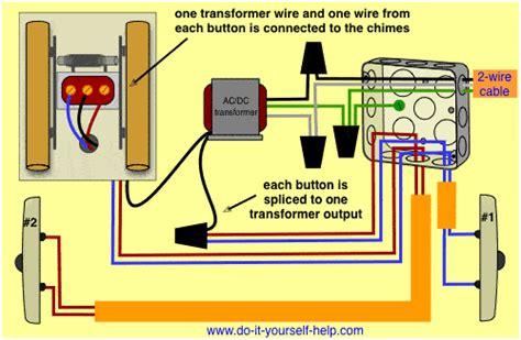 doorbell wiring colors wiring diagrams for household doorbells do it yourself