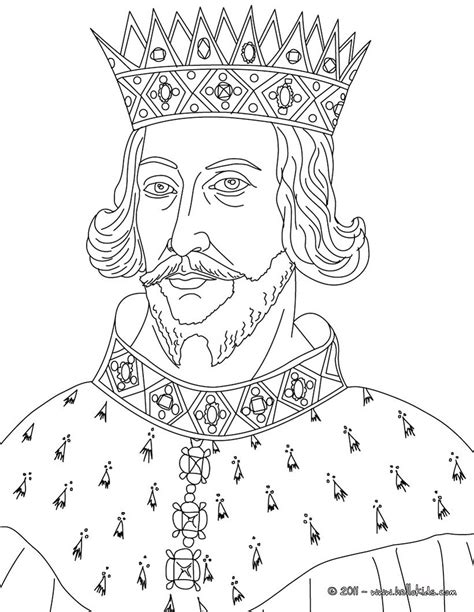 Free Printable King Coloring Pages king henry ii coloring pages hellokids