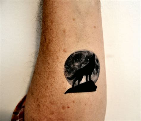 wolf moon tattoo wolf temporary moon temporary by