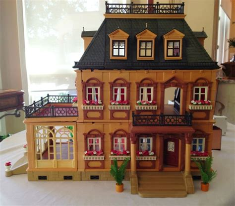 playmobile doll house playmobil victorian mansion dollhouse 5300 w extras ebay
