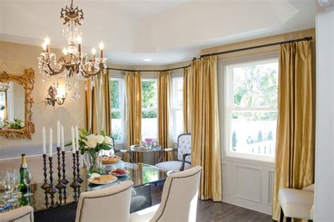 yellow curtains   victorian dining room rilane