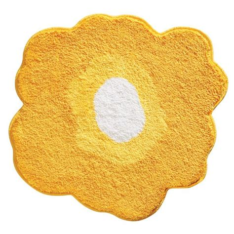 yellow flower rug yellow poppy bath rug by interdesign