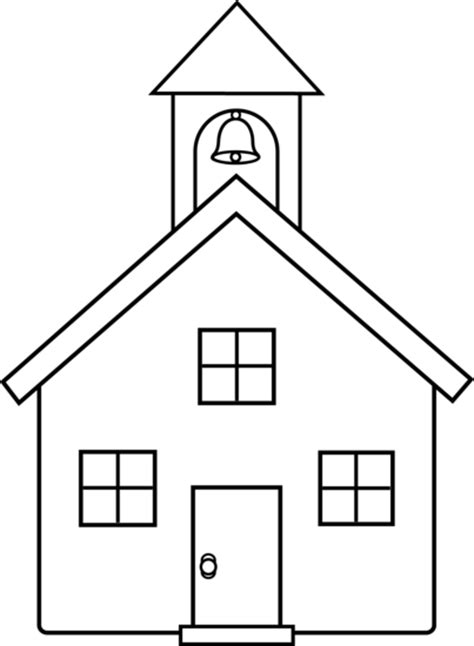 white house middle school school house line art free clip art