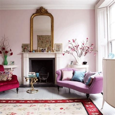 living room pink walls paint color