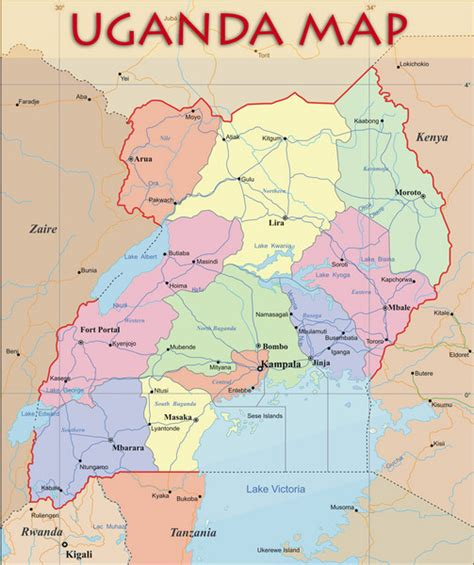 where is uganda on the world map uganda political map uganda mappery