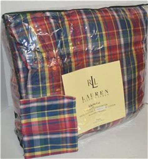 ralph lauren down comforter plaid ralph lauren garrison plaid down alternative twin
