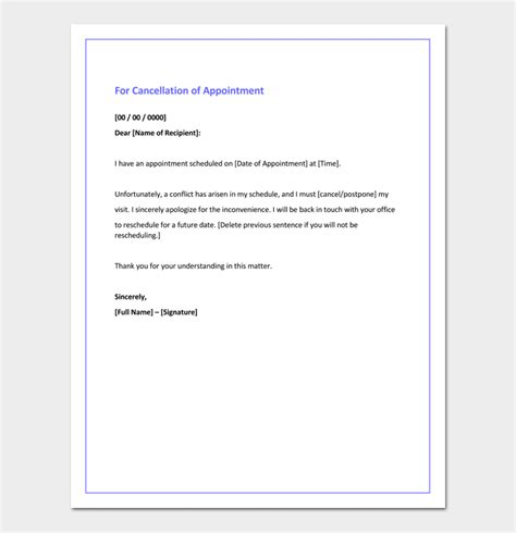 cancellation letter meeting apology letter for cancellation sles exles formats