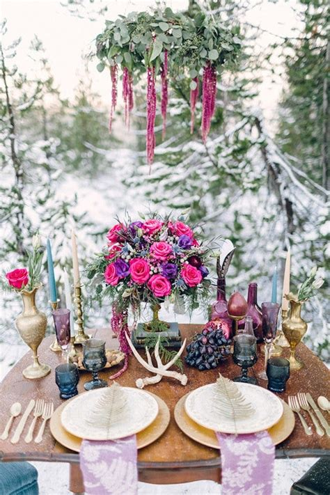 unique winter wedding color palettes  swoon