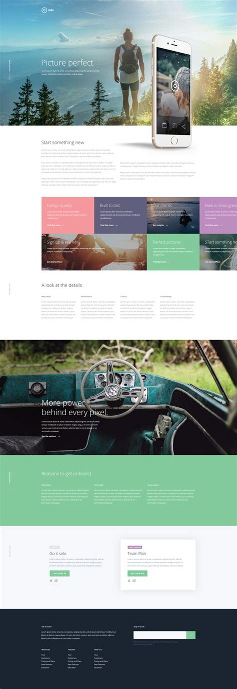 mobile photoshop free mobile app landing page psd template