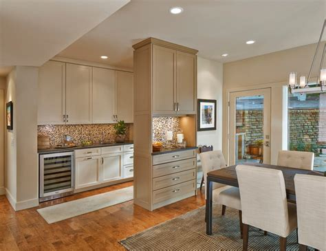 How To Paint Kitchen Cabinets Antique White by Wet Bar Transitional Kitchen Dallas By Michael