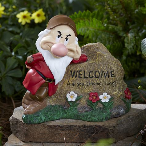disney disney grumpy welcome rock outdoor living outdoor decor lawn ornaments statues