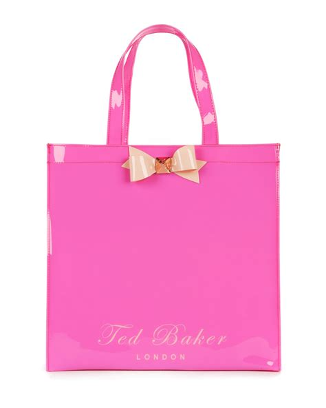 Ted Baker Shopper Bag With Bow by Ted Baker Bigcon Bow Shopper Bag In Pink Lyst