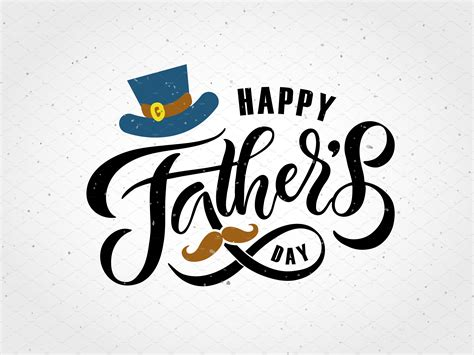 happy fathers day happy fathers day lettering card templates creative market