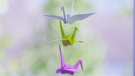 Origami Moving Crane - paper crane origami hanging hd stock 703 130