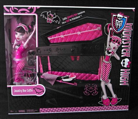 monster high beds for dolls new monster high draculaura jewelry box coffin bed with