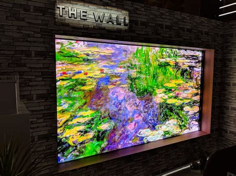 samsung quot the wall quot micro led modular 146 inch tv photos business insider
